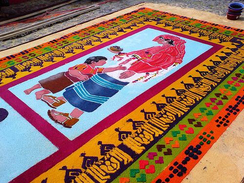 Alfombras de semana santa abril 2012 for Que significa alfombra