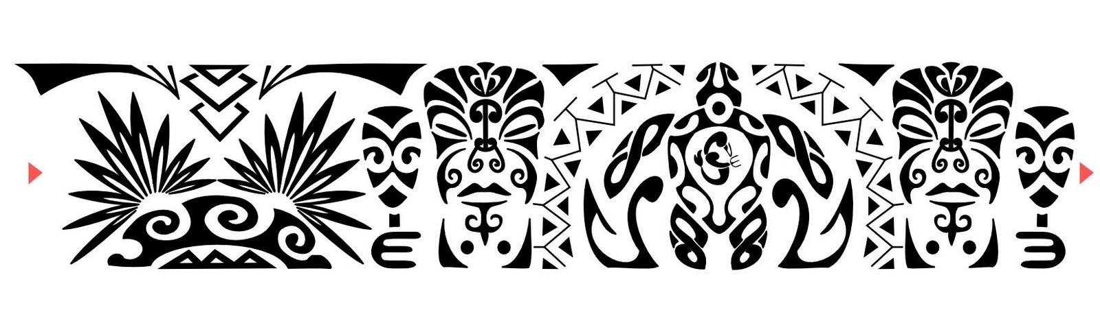 "armband tattoo polynesian tribal Maori/Samoano Bracciale ""  amicizia Valore,"