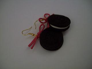 Χειροποίητα κοσμήματα: Χειροποιήτα σκουλαρίκια μπισκότα oreo