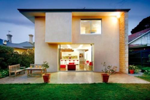 Mi casa mi hogar fachadas casas peque as for Fachadas de viviendas pequenas