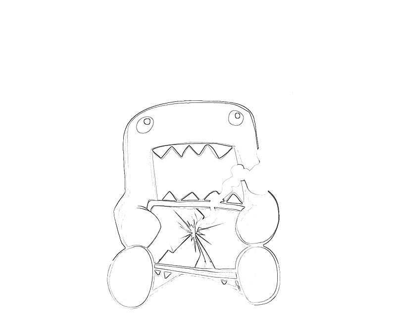 domo kun coloring pages - photo#17