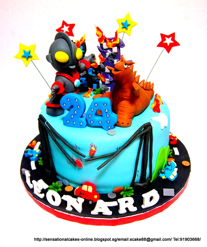 The Sensational Cakes Ultraman Cake Singapore Monster fighting