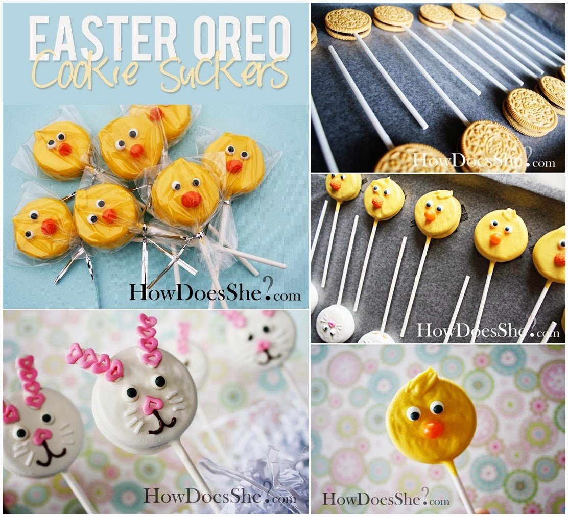 Easter Oreo Suckers