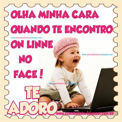 Recadinho Te Adoro pra Facebook