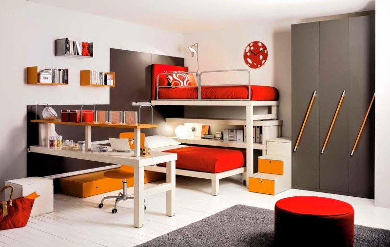 Awesome Kids Bedroom Decorating Ideas With Modern Furniture Luxurious Home Design