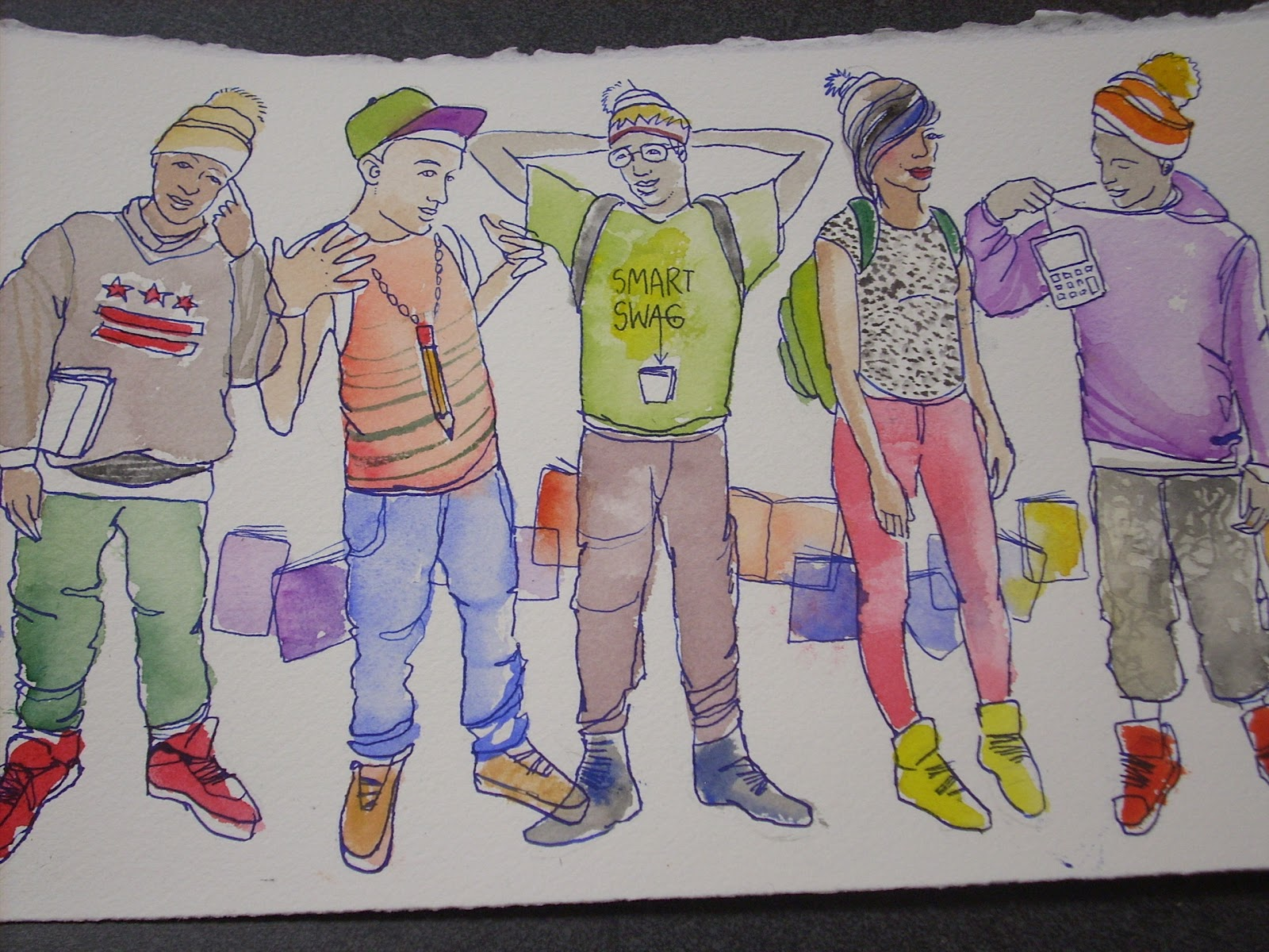 Fun School Drawing And Drawing at The School