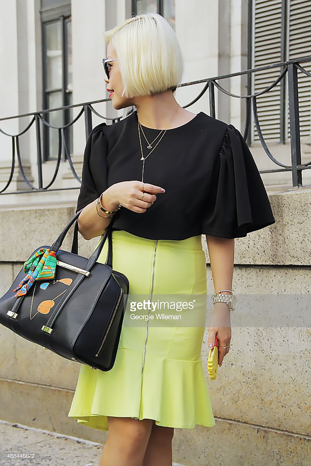 New York Fashion Week- Crystal Phuong on Gettyimages