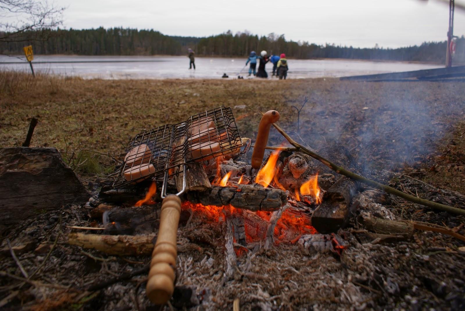 grillning öppen eld