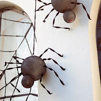 easy halloween spider decorations