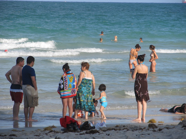 miami beach photo,family,beach scenery