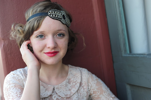 Flashback Summer: 1920s Photo Shoot, lace dress