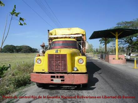 Punto de Control GNB Libertad de Barinas