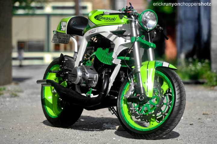 "Racing Cafè: ""The Green Machine"" by Santiago Chopper Specialties"