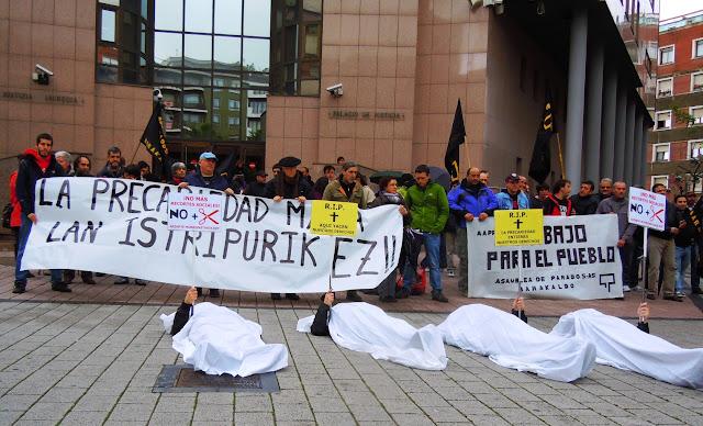 Protesta contra los accidentes laborales