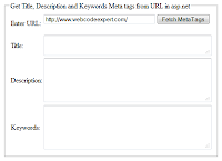 Get Title, Description and Keywords Meta tags from URL in asp.net