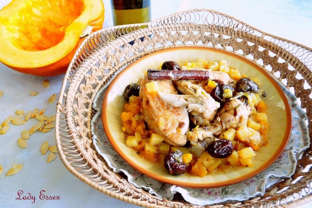 Kurczak duszony z ziemniakami i dynią