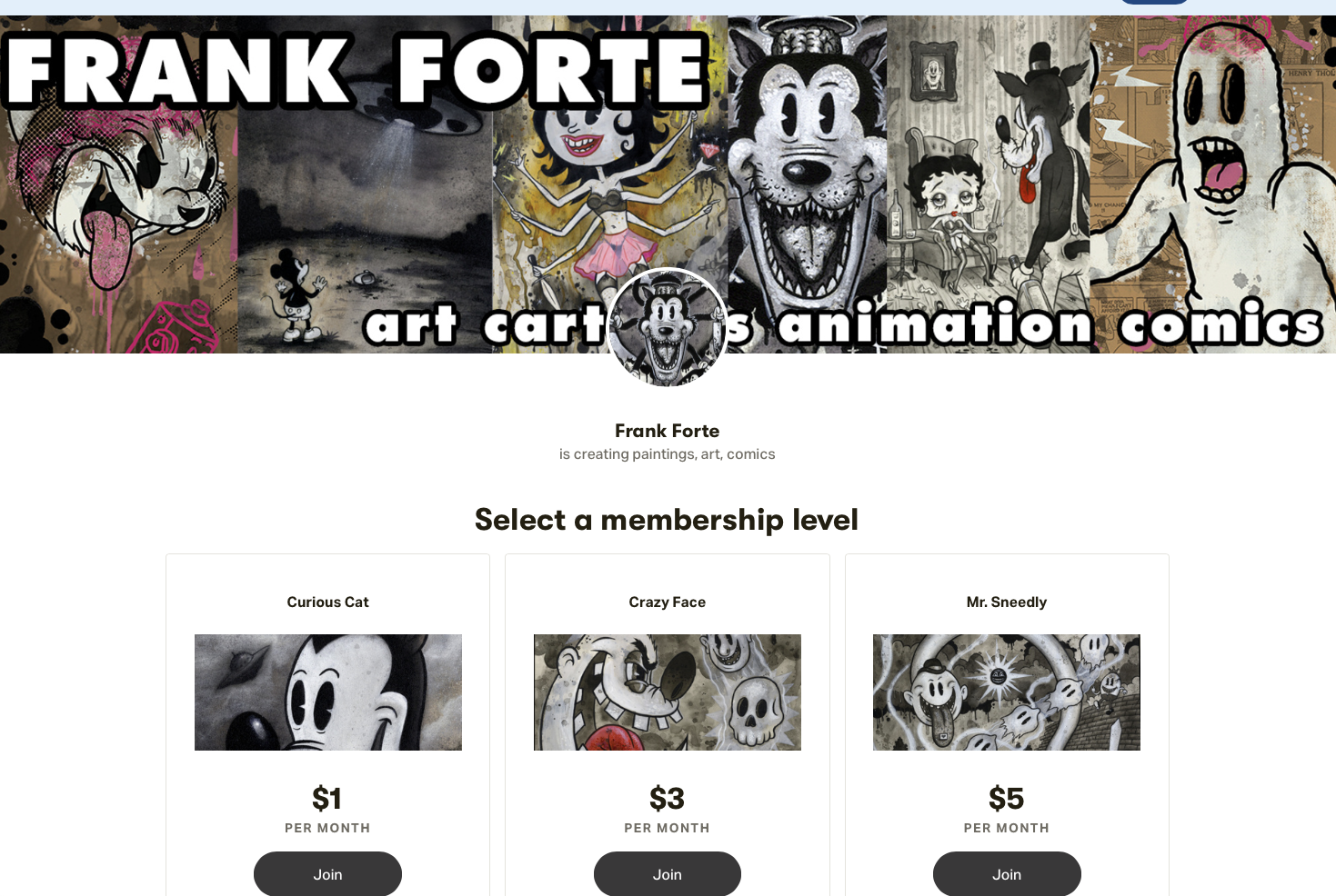 The Patreon of Frank Forte