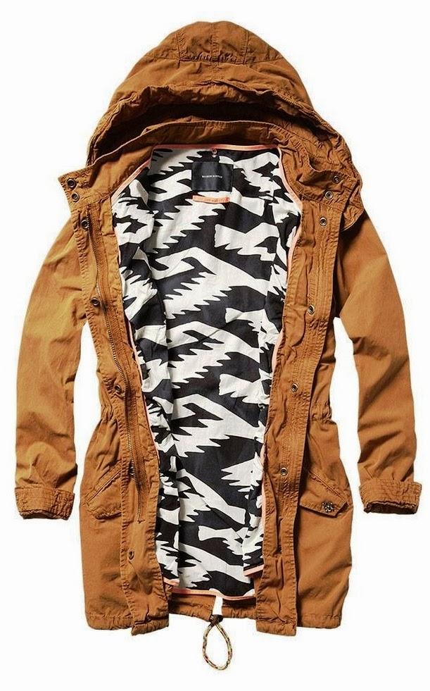Gorgeous brown hood jacket style fashion