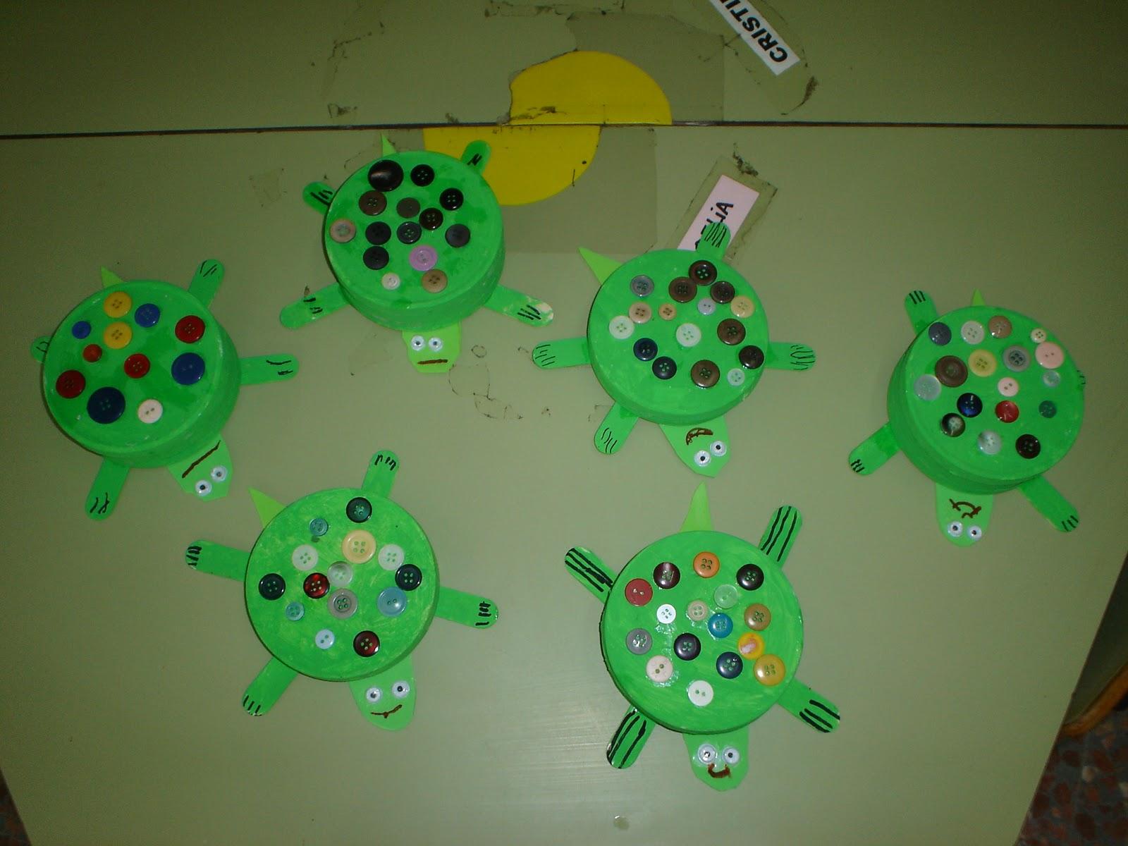 Manualidades para ni os tortuga con botones - Manualidades para ninos videos ...