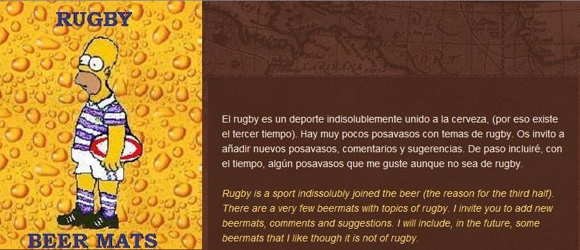 Posavasos de rugby