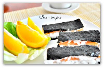 obiad z sushi