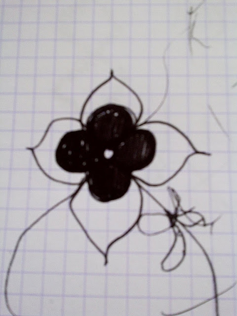 original drawings for the Nbaynadamas Coco's Flower design