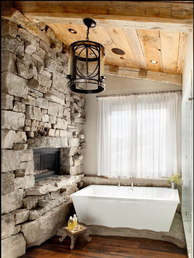 20 rustic bathroom designs the grey home for Bathroom designs rustic
