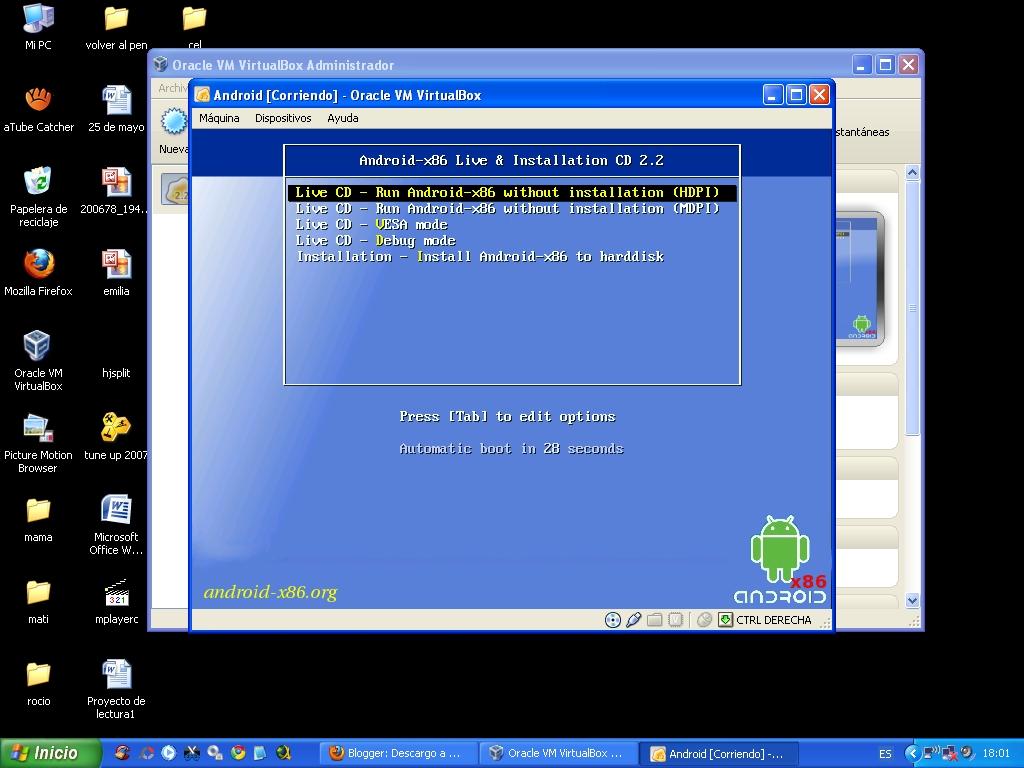 descargar sistema operativo android para pc gratis