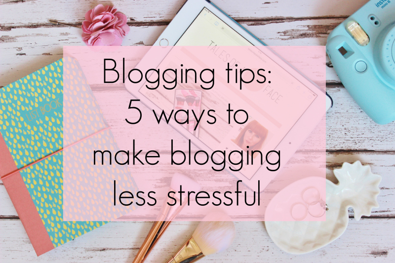 5 ways to make bloggingless stressful