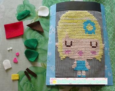 flanel cute cross stitch