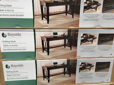 Bayside Furnishings Writing Desk: elegant and classy