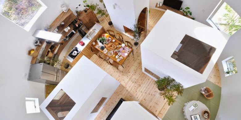 Desain Rumah Melingkar, Pas untuk Pasangan Muda