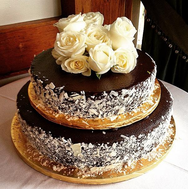 Pandoro Black Doris Plum And Mediterranean Orange Wedding Cake