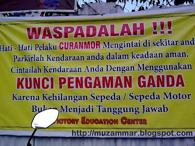 Spanduk peringatan by Muzammar - Berita Otomotif