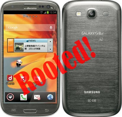 Root Galaxy S3 SC-03E Japan