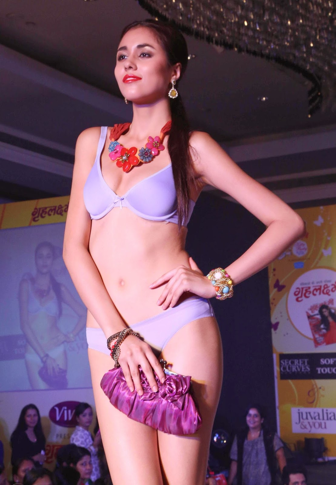 nude indian model on ramp