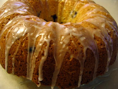 Sour Cream Blueberry Cake
