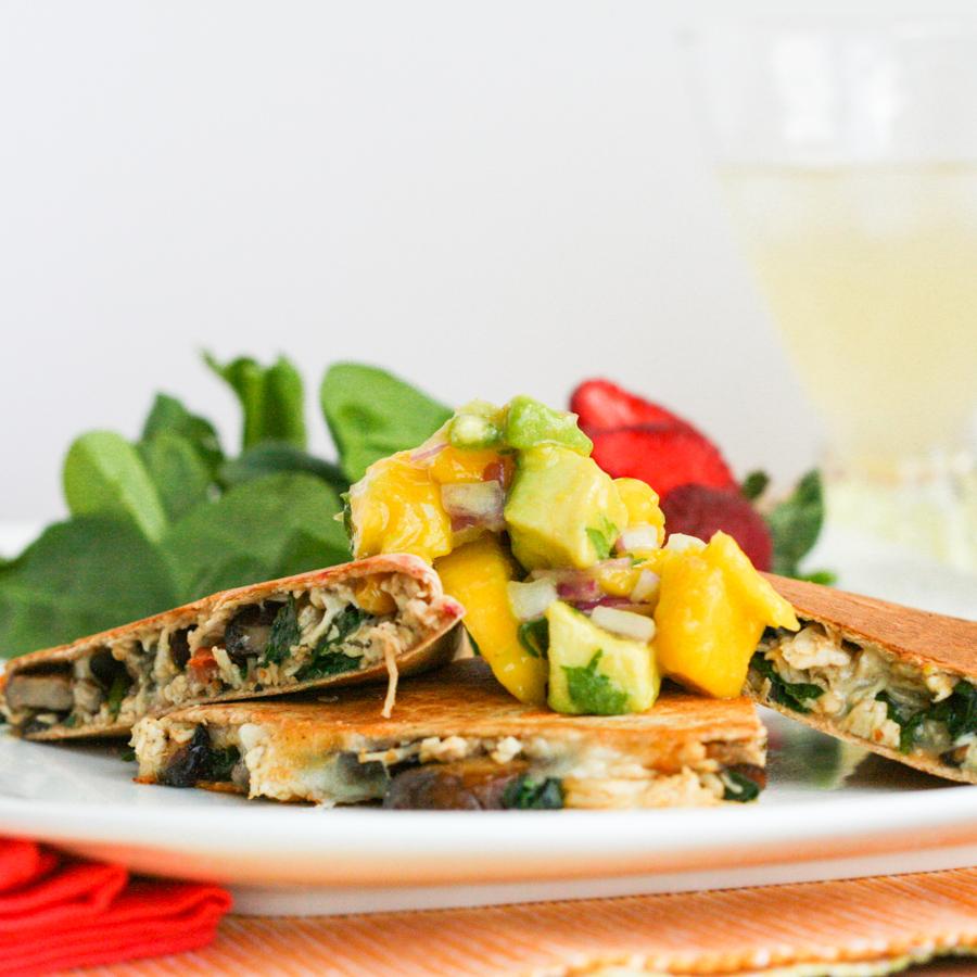 Healthy Chicken Quesadillas Recipe — Dishmaps