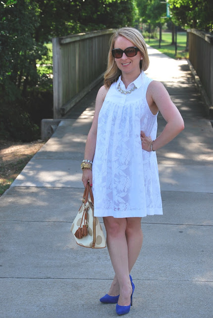 how to style a little white dress, anthropologie