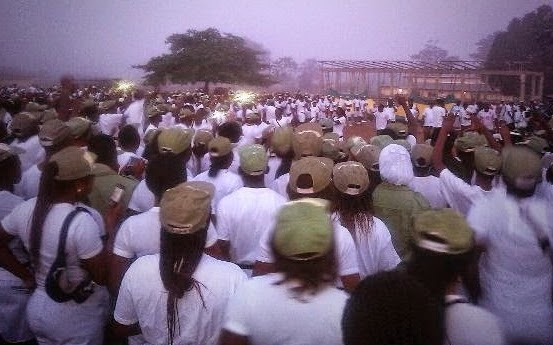 nysc corpers protesting delayed allowance