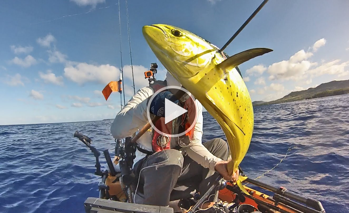 How to fish kayak fishing on guam mahi from hobie for How to fishing