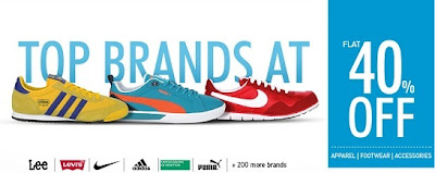 Min 40% & Max 70% + 20% Additional Off on Men's / Women's Branded Apparels | Footwear | Accessories @ Myntra (Levis | Lee | ADIDAS | UCB & more) For 24 Hours Only