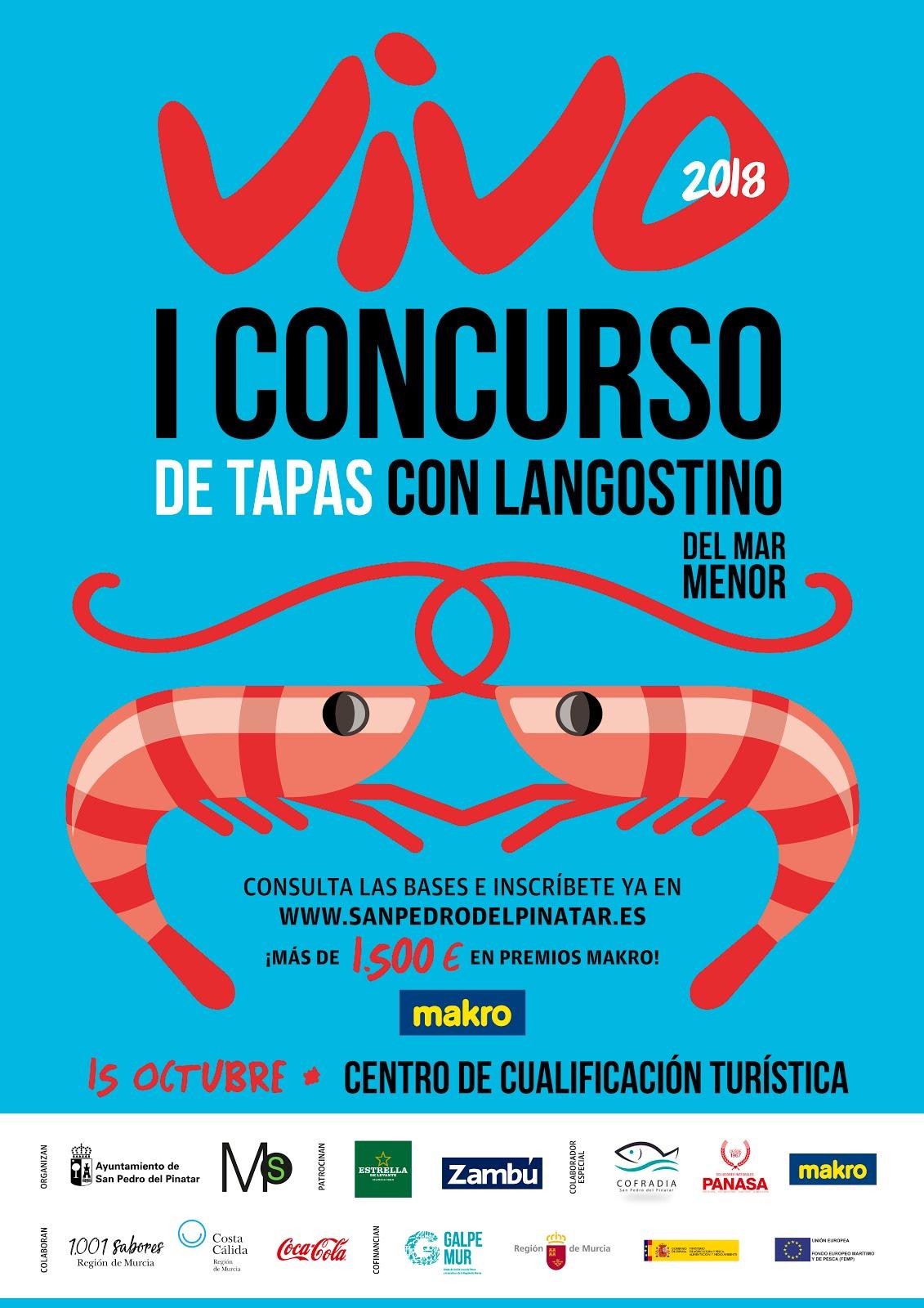 I Encuentro Gastronómico del langostino del Mar Menor Vivo 2018.