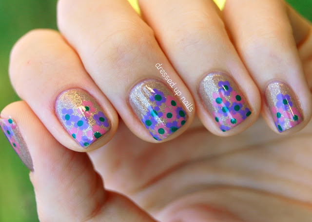 Floral cluster nail art with China Glaze Fast Track