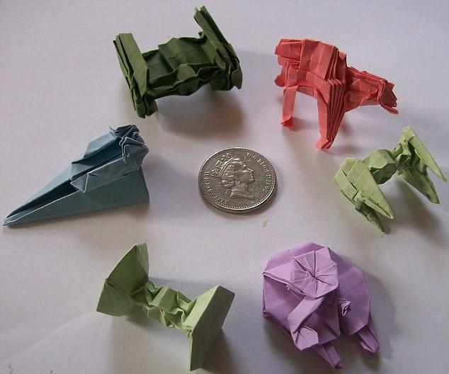 Something Amazing Awesome Tiny Origami Of Iconic Spaceships And