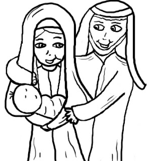 Baby Jesus Mary and Joseph Clip Art