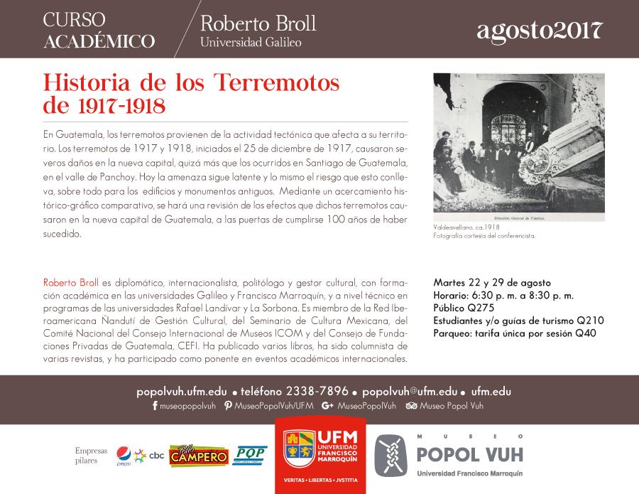 Historia de los terremotos 1917-1918