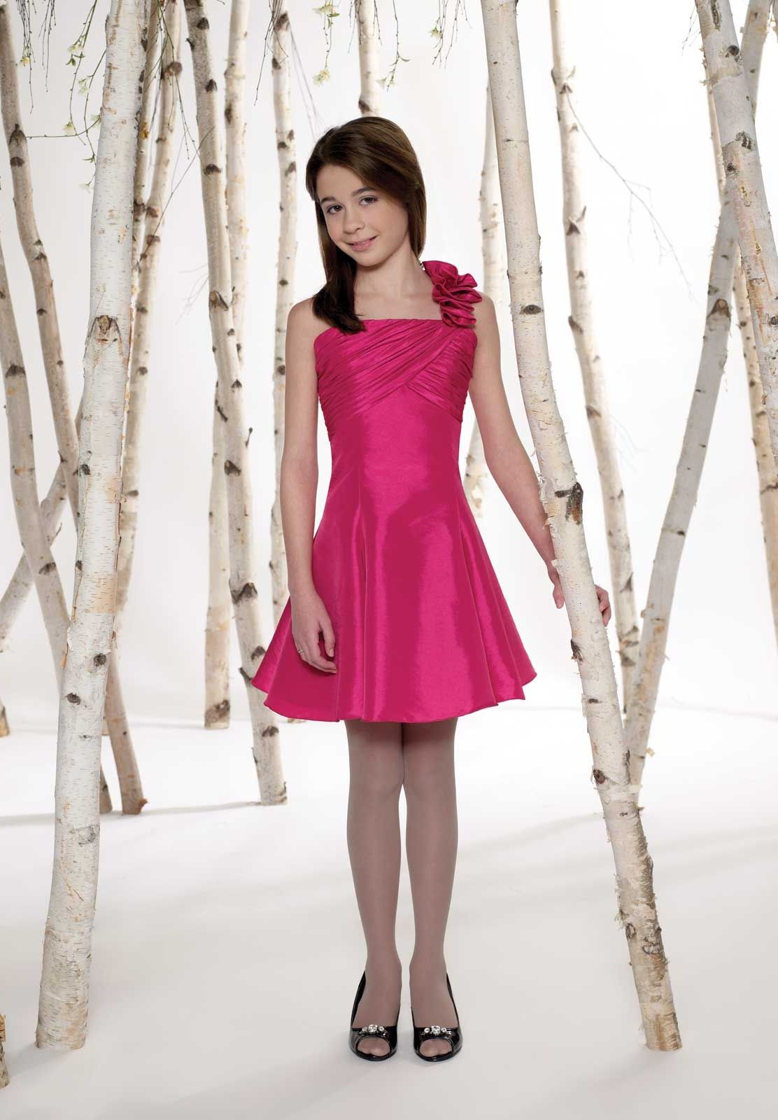 red junior bridesmaid dress