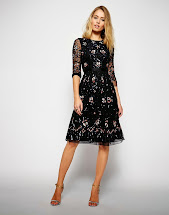 Midi Cocktail Dress with Sleeves Formal