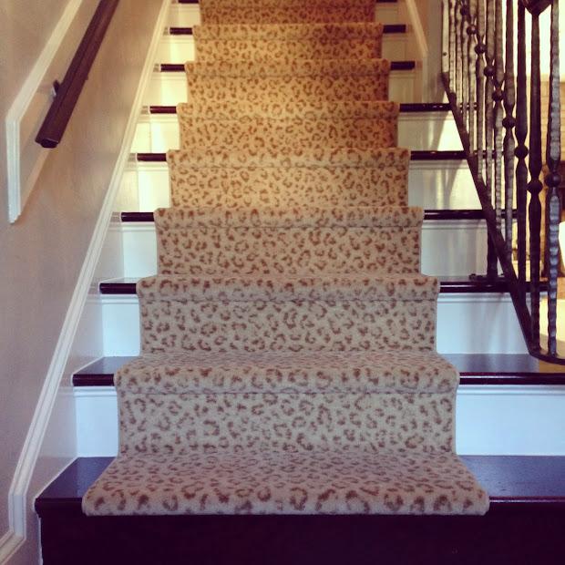 Beau Leopard Print Stair Runner Carpet